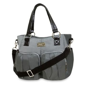 Wendy Bellissimo™ Shirred Pocket Diaper Bag in Grey