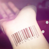 3pcs Barcode Set tattoo - InknArt Temporary Tattoo - wrist quote tattoo body sticker fake tattoo wedding tattoo small tattoo