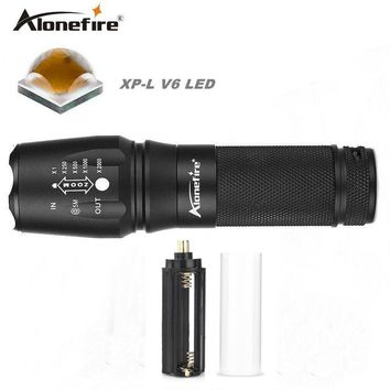 AloneFire E26 10w XP-L V6 High Power led 26650 zoom flashlight Powerful cree v6 led flashlight tactical zoomable flashlight