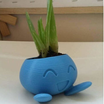 Pokemon style Plant pot designed to look like Oddish