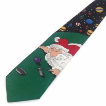 Special Ties Golfing Santa Claus Christmas Novelty Necktie Holiday Ornaments Apparel Gift Gentlemen Novelty Tie Christmas Present Necktie