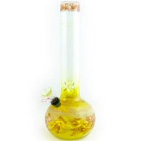 "Dynomite Glass - 12"" Bubble Wrap N Rake Waterpipe w/Ice Pinch"