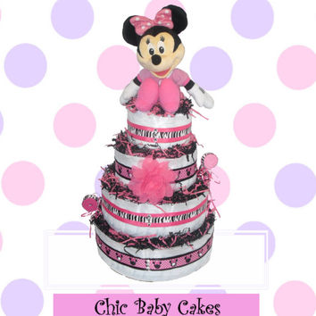 Minnie Mouse Diaper Cake Baby Shower Centerpiece - Take 2