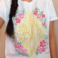 Pre-Order: All Time Low ATL Painting Flowers T-Shirt  © Design by Euclea Tan