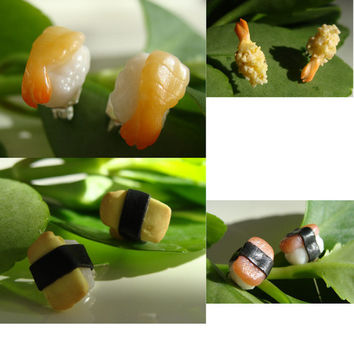 Sushi Earrings - Choice of Four Flavors-