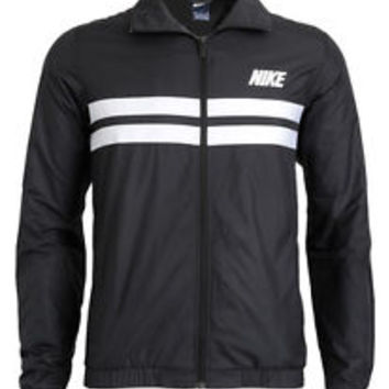 NIKE Mens ADVANTAGE WIND Track Jacket XL 544111 010 WHITE BLACK TRAINING FZ NEW