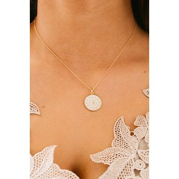 Major Day Charm Necklace (White)