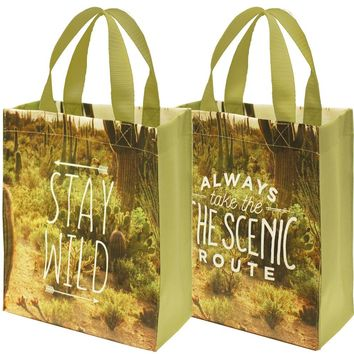 Stay Wild / Always Take The Scenic Route Small Tote Bag