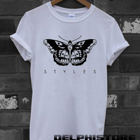 one direction shirt 1D t-shirt harry styles tatto tshirt printed white unisex size  (DL-25)