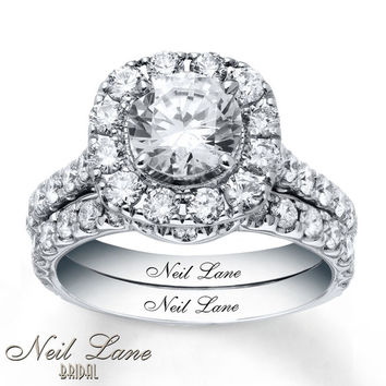 Neil Lane Bridal Set 3-3/8 ct tw Diamonds 14K White Gold