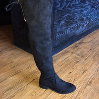 SALE Over the Knee Black Boots