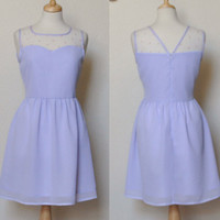 SWEETHEART (Lavender) : Lavender purple sweetheart neckline dress, vintage inspired, shirred skirt, party, day, bridesmaid