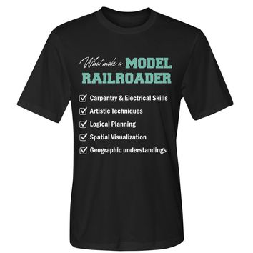 What make a model railroader shirt Dry Sport Tee