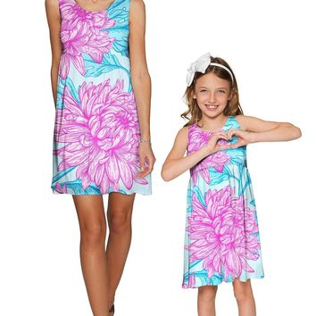 Floral Bliss Sanibel Empire Waist Mother Daughter Dress