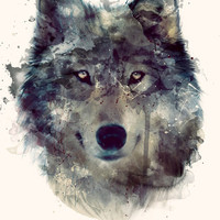 Wolf // Persevere  Art Print by Amy Hamilton | Society6