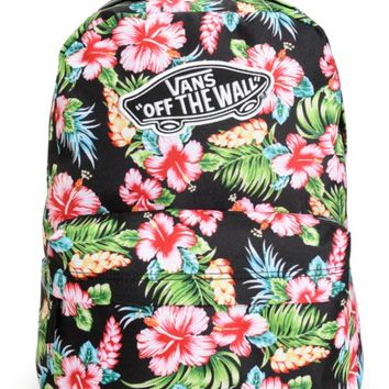 00dedc7971 Vans Realm Hawaiian Black Backpack from Zumiez