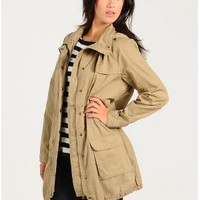 Off Duty Parka Jacket  | $18.50 | Cheap Trendy Jackets Chic Discount Fashion for Women | ModDeals