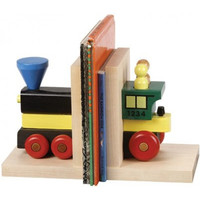 Train Wooden Bookends