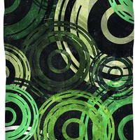 Concentric Intensity - Green Duvet Cover for Sale by Shawna Rowe - Queen