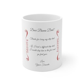 Ceramic Mug For Step Dad - Funny Sayings Favorite Step Father Message Cup Gift For Step Dads