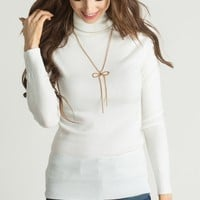 Tessia Ivory Turtleneck Sweater