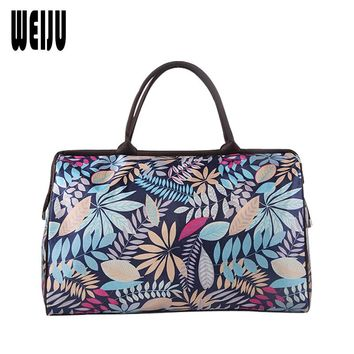 WEIJU Women Travel Bag 2017 New Print Duffle Bag Casual Luggage Men Travel Bags Large Capacity Hand Bags Ladies YR0314