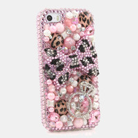 Pink Leopard Bow with Diamond Ring Design (style 776)
