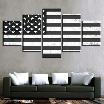 Modern Canvas Paintings Wall Art HD Prints Pictures Home Decor 5 Pieces Poster Framework