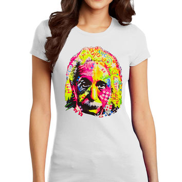 Einstein Neon Light Head Juniors T-Shirt