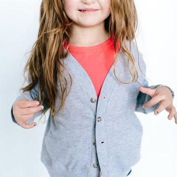 Kids Beige Button Up Cardigan