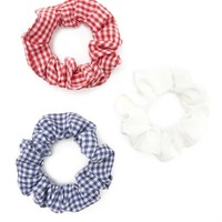 Gingham Scrunchie Set