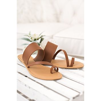 Life's A Beach Strappy Sandal (Whisky)