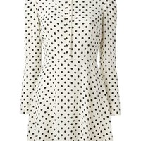 Red Valentino Polka Dot Shirt Dress - Russo Capri - Farfetch.com