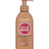 L'Oréal Paris Sublime Bronze Self-Tanning Lotion Medium Tan Face and Body 150ml