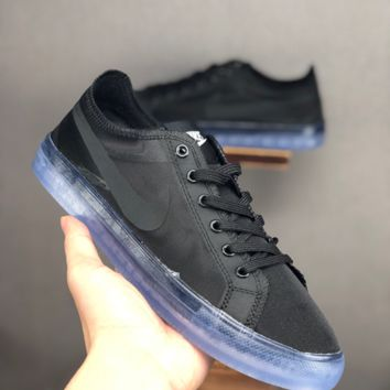 HCXX 19June 1081 Nike off white x Nike Blazer Low Transparent gauze Fashion Board Shoes