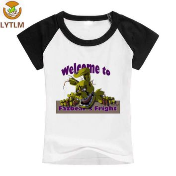 LYTLM Freddy Tee Shirt Enfant Fille  T-shirt Baby  At  Baby Boy Clothes Funny Shirt 5 Nights With Freddie