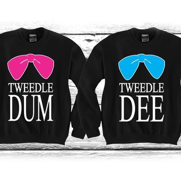 "Tweedle DEE - Tweedle DUM ""Cute Couples Matching Crewnecks"""