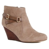 Report Shoes Galiana Wedge Booties in Taupe GALIANA-TAUPE