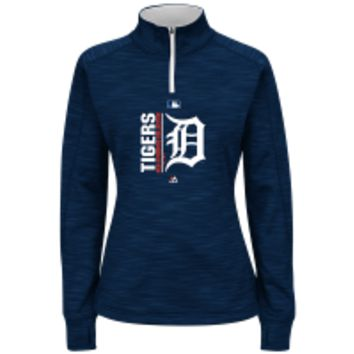 MLB Detroit Tigers Women's Quarter Zip Pullover