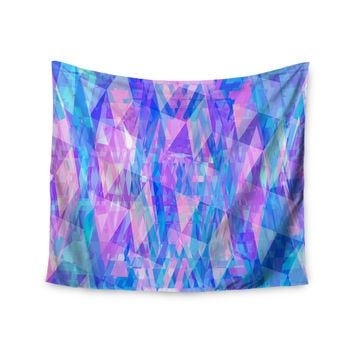 "Suanne Carter ""Geo Prism2"" Pink Blue Wall Tapestry"