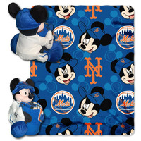 New York Mets MLB Mickey Mouse with Throw Combo