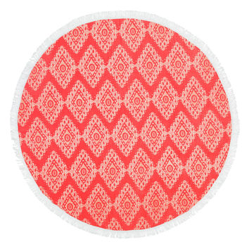 Sand Circle Monogrammed Beach Towel