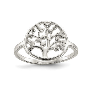 Sterling Silver Polished Tree Ring