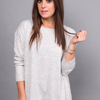 Gray Skies Split Back Tunic