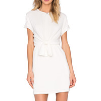 SUNCOO Cristina Knot Dress in Blanc Casse