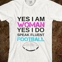 Supermarket: Woman Lovin Football from Glamfoxx Shirts