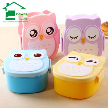 Power life 4 colours cartoon bento school lunch box for kids lunchbox plastic food containers  cutlery minion set children mold