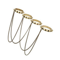 Spike Chain Drape Ring Set - Rings - Jewelry  - Accessories