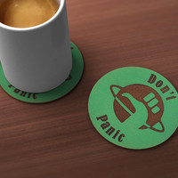 Don't Panic Drink Coaster