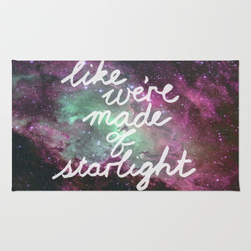 Like We're Made of Starlight Area & Throw Rug by Tangerine-Tane | Society6